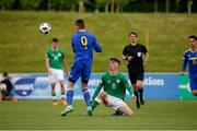 11 May 2018; Barry Coffey of Republic of Ireland in action against Kristijan Stanic of Bosnia and Herzegovina during the UEFA U17 Championship Finals Group C match between Bosnia & Herzegovina and Republic of Ireland at St George's Park, in Burton-upon-Trent, England. Photo by Malcolm Couzens/Sportsfile
