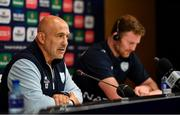 11 May 2018; Forwards coach Laurent Travers, left, with Donnacha Ryan during the Racing 92 Press Conference at San Mames Stadium, in Bilbao, Spain. Photo by Brendan Moran/Sportsfile