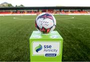 11 May 2018; A general view of the match ball before the SSE Airtricity League Premier Division match between Derry City and Cork City at Brandywell Stadium, in Derry. Photo by Oliver McVeigh/Sportsfile