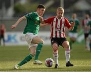 11 May 2018; Garry Buckley of Cork City in action against Nicky Low of Derry City match between Derry City and Cork City at Brandywell Stadium, in Derry. Photo by Oliver McVeigh/Sportsfile