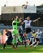 11 May 2018; Seán Hoare of Dundalk in action against Mitchell Beeney, left, and Rhys McCabe of Sligo Rovers during the SSE Airtricity League Premier Division match between Dundalk and Sligo Rovers at Oriel Park, in Dundalk, Louth. Photo by Piaras Ó Mídheach/Sportsfile