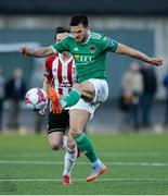 11 May 2018; Jimmy Keohane of Cork City in action against Aaron McEneff of Derry City during the SSE Airtricity League Premier Division match between Derry City and Cork City at Brandywell Stadium, in Derry. Photo by Oliver McVeigh/Sportsfile