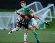 11 May 2018; Sean McLoughlin of Cork City in action against Rory Patterson of Derry City during the SSE Airtricity League Premier Division match between Derry City and Cork City at Brandywell Stadium, in Derry. Photo by Oliver McVeigh/Sportsfile