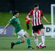11 May 2018; Aaron McEneff of Derry City in action against Barry McNamee of Cork City during the SSE Airtricity League Premier Division match between Derry City and Cork City at Brandywell Stadium, in Derry. Photo by Oliver McVeigh/Sportsfile