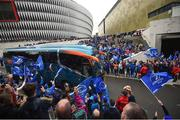 12 May 2018; The Leinster team bus arrives prior to the European Rugby Champions Cup Final match between Leinster and Racing 92 at San Mames Stadium in Bilbao, Spain. Photo by Stephen McCarthy/Sportsfile