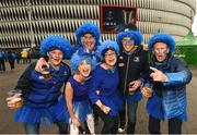12 May 2018; Leinster supporters, from left, Alan Claffey, Lauren Morris, Niall Hayes, Holly Murray, Gary Brennan and Justin Burke prior to the European Rugby Champions Cup Final match between Leinster and Racing 92 at San Mames Stadium in Bilbao, Spain. Photo by Stephen McCarthy/Sportsfile
