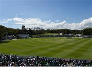 12 May 2018; A general view of the ground and stands during play on day two of the International Cricket Test match between Ireland and Pakistan at Malahide, in Co. Dublin. Photo by Seb Daly/Sportsfile