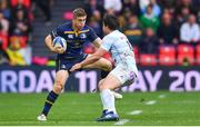 12 May 2018; Jordan Larmour of Leinster in action against Henry Chavancy of Racing 92 during the European Rugby Champions Cup Final match between Leinster and Racing 92 at the San Mames Stadium in Bilbao, Spain. Photo by Ramsey Cardy/Sportsfile
