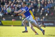 12 May 2018; Mark Timmons of Laois in action against Donal Shanley of Wexford during the Leinster GAA Football Senior Championship Preliminary Round match between Wexford and Laois at Innovate Wexford Park in Wexford. Photo by Matt Browne/Sportsfile
