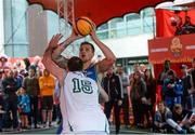 12 May 2018; Martins Provizors of DCU in action against Paul Freeman of Moycullen, Galway, during #HulaHoops3x3 Ireland's first outdoor 3x3 Basketball championship brought to you by Hula Hoops and Basketball Ireland at Dundrum Town Centre in Dundrum, Dublin. Photo by Piaras Ó Mídheach/Sportsfile