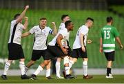 12 May 2018; Tommy Illunga of Maynooth University Town celebrates after scoring his side's second goal during the FAI New Balance Intermediate Cup Final match between Firhouse Clover and Maynooth University Town at the Aviva Stadium in Dublin. Photo by Eóin Noonan/Sportsfile