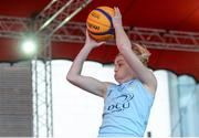 12 May 2018; Sarah Woods of DCU Mercy during #HulaHoops3x3 Ireland's first outdoor 3x3 Basketball championship brought to you by Hula Hoops and Basketball Ireland at Dundrum Town Centre in Dundrum, Dublin. Photo by Piaras Ó Mídheach/Sportsfile