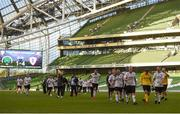 12 May 2018; Maynooth University Town players make their way over to supporters after the FAI New Balance Intermediate Cup Final match between Firhouse Clover and Maynooth University Town at the Aviva Stadium in Dublin. Photo by Eóin Noonan/Sportsfile