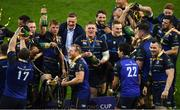 12 May 2018; Leinster players celebrate following the European Rugby Champions Cup Final match between Leinster and Racing 92 at San Mames Stadium in Bilbao, Spain. Photo by Stephen McCarthy/Sportsfile