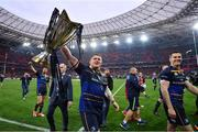 12 May 2018; Tadhg Furlong of Leinster celebrates with the cup after the European Rugby Champions Cup Final match between Leinster and Racing 92 at the San Mames Stadium in Bilbao, Spain. Photo by Ramsey Cardy/Sportsfile