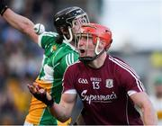 12 May 2018; Ben Conneely of Offaly in action against Conor Whelan of Galway during the Leinster GAA Hurling Senior Championship First Round match between Offaly and Galway at Bord na Mona O'Connor Park in Tullamore, Offaly. Photo by Ray McManus/Sportsfile