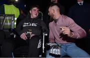 12 May 2018; UFC fighter Conor McGregor with Ian O'Connoll, age 15, from Killarney, Co Kerry, at BAMMA 35 at the 3 Arena in Dublin. Photo by David Fitzgerald/Sportsfile