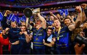 12 May 2018; Leinster players, including, Ross Molony, Nick McCarthy, Dan Leavy, Rory O'Loughlin and Ross Byrne following their victory in the European Rugby Champions Cup Final match between Leinster and Racing 92 at the San Mames Stadium in Bilbao, Spain. Photo by Ramsey Cardy/Sportsfile