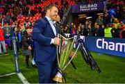 12 May 2018; Sean O'Brien following their victory in the European Rugby Champions Cup Final match between Leinster and Racing 92 at the San Mames Stadium in Bilbao, Spain. Photo by Ramsey Cardy/Sportsfile