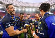 12 May 2018; Leinster's Jack Conan, Robbie Henshaw, Andrew Porter, Sean Cronin and Joey Carbery following their victory in the European Rugby Champions Cup Final match between Leinster and Racing 92 at the San Mames Stadium in Bilbao, Spain. Photo by Ramsey Cardy/Sportsfile