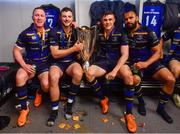 12 May 2018; Rory O'Loughlin, Robbie Henshaw, Garry Ringrose and Isa Nacewa of Leinster following their victory in the European Rugby Champions Cup Final match between Leinster and Racing 92 at the San Mames Stadium in Bilbao, Spain. Photo by Ramsey Cardy/Sportsfile
