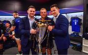 12 May 2018; Fergus McFadden, Sean Cronin, Noel Reid of Leinster following their victory in the European Rugby Champions Cup Final match between Leinster and Racing 92 at the San Mames Stadium in Bilbao, Spain. Photo by Ramsey Cardy/Sportsfile