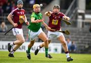 13 May 2018; James Kelly of Meath in action against Liam Varley of Westmeath during the Joe McDonagh Cup Round 2 match between Westmeath and Meath at TEG Cusack Park in Westmeath. Photo by Sam Barnes/Sportsfile