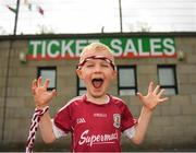 13 May 2018; Young Galway supporter Edward McKenna, age 5, from Ballinasloe, Galway, prior to the Connacht GAA Football Senior Championship Quarter-Final match between Mayo and Galway at Elvery's MacHale Park in Mayo. Photo by Eóin Noonan/Sportsfile