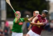 13 May 2018; Paul Greville of Westmeath in action against Jack Regan of Meath during the Joe McDonagh Cup Round 2 match between Westmeath and Meath at TEG Cusack Park in Westmeath. Photo by Sam Barnes/Sportsfile