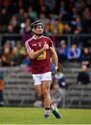 13 May 2018; Aonghus Clarke of Westmeath gives a thumbs up after Niall Mitchell of Westmeath scored his side's third goal during the Joe McDonagh Cup Round 2 match between Westmeath and Meath at TEG Cusack Park in Westmeath. Photo by Sam Barnes/Sportsfile