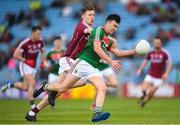13 May 2018; Brendan Carr of Mayo in action against Conor Brady of Galway during the Junior Championship Final match between Mayo and Galway at Elvery's MacHale Park in Mayo. Photo by Eóin Noonan/Sportsfile