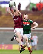 13 May 2018; Conor Brady of Galway in action against Seán Walsh of Mayo during the Junior Championship Final match between Mayo and Galway at Elvery's MacHale Park in Mayo. Photo by David Fitzgerald/Sportsfile