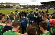 13 May 2018; Meath manager Nick Fitzgerald addresses his players following the Joe McDonagh Cup Round 2 match between Westmeath and Meath at TEG Cusack Park in Westmeath. Photo by Sam Barnes/Sportsfile