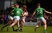 13 May 2018; Luke Loughlin of Westmeath in action against, from left, Donal Lenihan, Donal Keogan and Conor Dempsey of Meath during the Bord na Mona O'Byrne Cup Final match between Westmeath and Meath at TEG Cusack Park in Westmeath. Photo by Sam Barnes/Sportsfile