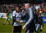 13 May 2018; Kilkenny manager Brian Cody shakes hands with Dublin manager Pat Gilroy after the Leinster GAA Hurling Senior Championship Round 1 match between Dublin and Kilkenny at Parnell Park in Dublin. Photo by Daire Brennan/Sportsfile