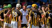 13 May 2018; Kilkenny manager Brian Cody speaks to his players ahead of the Leinster GAA Hurling Senior Championship Round 1 match between Dublin and Kilkenny at Parnell Park in Dublin. Photo by Daire Brennan/Sportsfile