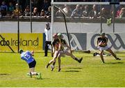 13 May 2018; Fergal Whitely of Dublin scores his side's second goal during the Leinster GAA Hurling Senior Championship Round 1 match between Dublin and Kilkenny at Parnell Park in Dublin. Photo by Daire Brennan/Sportsfile