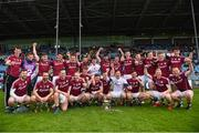 13 May 2018; Galway players celebrate with the cup after the Junior Championship Semi-Final match between Mayo and Galway at Elvery's MacHale Park in Mayo. Photo by Eóin Noonan/Sportsfile