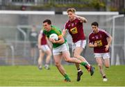 13 May 2018; James McEntee of Meath in action against Luke Loughlin of Westmeath during the Bord na Mona O'Byrne Cup Final match between Westmeath and Meath at TEG Cusack Park in Westmeath. Photo by Sam Barnes/Sportsfile