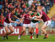13 May 2018; Andy Moran of Mayo in action against Sean Andy Ó'Ceallaigh of Galway during the Connacht GAA Football Senior Championship Quarter-Final match between Mayo and Galway at Elvery's MacHale Park in Mayo. Photo by Eóin Noonan/Sportsfile