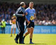 13 May 2018; Conal Keaney of Dublin leaves the field injured during the Leinster GAA Hurling Senior Championship Round 1 match between Dublin and Kilkenny at Parnell Park in Dublin. Photo by Daire Brennan/Sportsfile