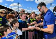 13 May 2018; Robbie Henshaw of Leinster signs autographs during their homecoming at Energia Park in Dublin following their victory in the European Champions Cup Final in Bilbao, Spain. Photo by Brendan Moran/Sportsfile