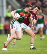 13 May 2018; Paddy Durcan of Mayo in action against Seán Armstrong of Galway during the Connacht GAA Football Senior Championship Quarter-Final match between Mayo and Galway at Elvery's MacHale Park in Mayo. Photo by David Fitzgerald/Sportsfile
