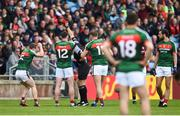 13 May 2018; Diarmuid O'Connor of Mayo is shown a red card by Referee Conor Lane during the Connacht GAA Football Senior Championship Quarter-Final match between Mayo and Galway at Elvery's MacHale Park in Mayo. Photo by David Fitzgerald/Sportsfile