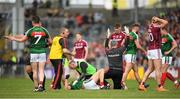 13 May 2018; Mayo medical staff call for assistance for Tom Parsons of Mayo during the Connacht GAA Football Senior Championship Quarter-Final match between Mayo and Galway at Elvery's MacHale Park in Mayo. Photo by Eóin Noonan/Sportsfile