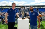 13 May 2018; Leinster head coach Leo Cullen and captain Isa Nacewa, right, during their homecoming at Energia Park in Dublin following their victory in the European Champions Cup Final in Bilbao, Spain. Photo by Ramsey Cardy/Sportsfile
