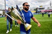 13 May 2018; Leinster captain Isa Nacewa arrives for their homecoming at Energia Park in Dublin following their victory in the European Champions Cup Final in Bilbao, Spain. Photo by Ramsey Cardy/Sportsfile