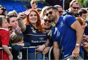 13 May 2018; Rob Kearney of Leinster has a 'selfie' taken with fans during their homecoming at Energia Park in Dublin following their victory in the European Champions Cup Final in Bilbao, Spain. Photo by Brendan Moran/Sportsfile