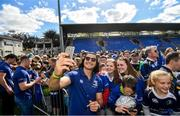 13 May 2018; James Lowe of Leinster during their homecoming at Energia Park in Dublin following their victory in the European Champions Cup Final in Bilbao, Spain. Photo by Ramsey Cardy/Sportsfile