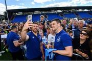 13 May 2018; Sean O'Brien, left, and Jonathan Sexton of Leinster during their homecoming at Energia Park in Dublin following their victory in the European Champions Cup Final in Bilbao, Spain. Photo by Ramsey Cardy/Sportsfile